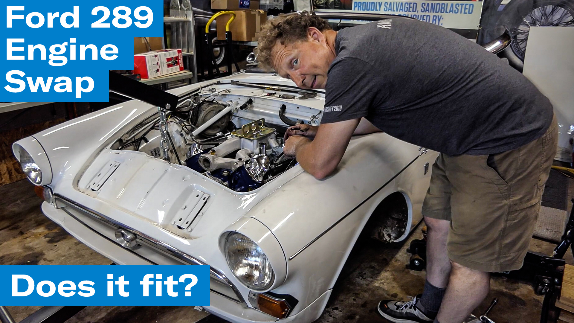 Ford 289 Sunbeam Tiger engine swap project