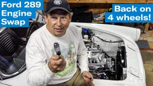 Wheels on the Ground | Sunbeam Tiger engine swap project – Ep. 9
