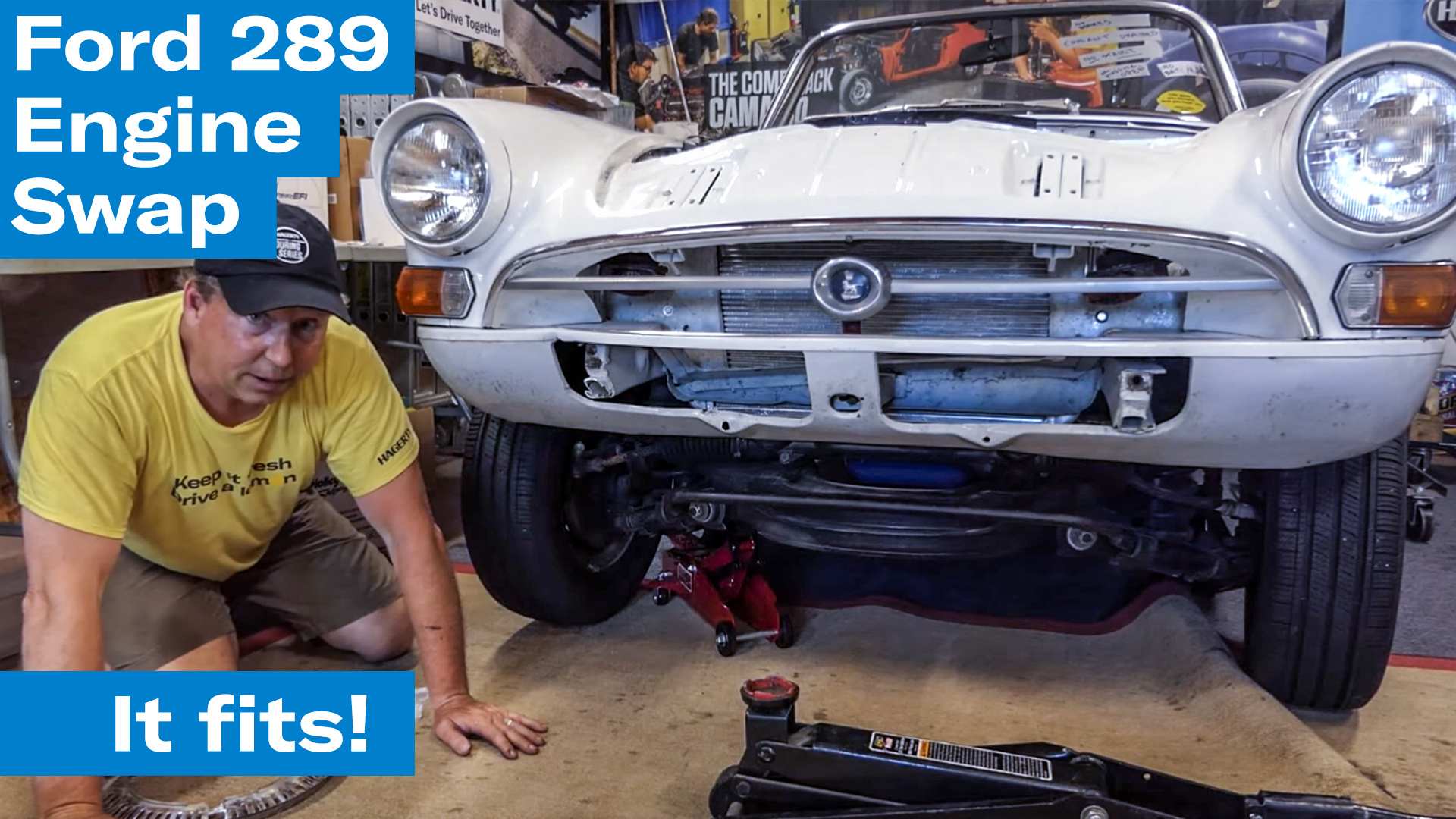 Mocking up the front subframe | Sunbeam Tiger engine swap project - Ep. 8