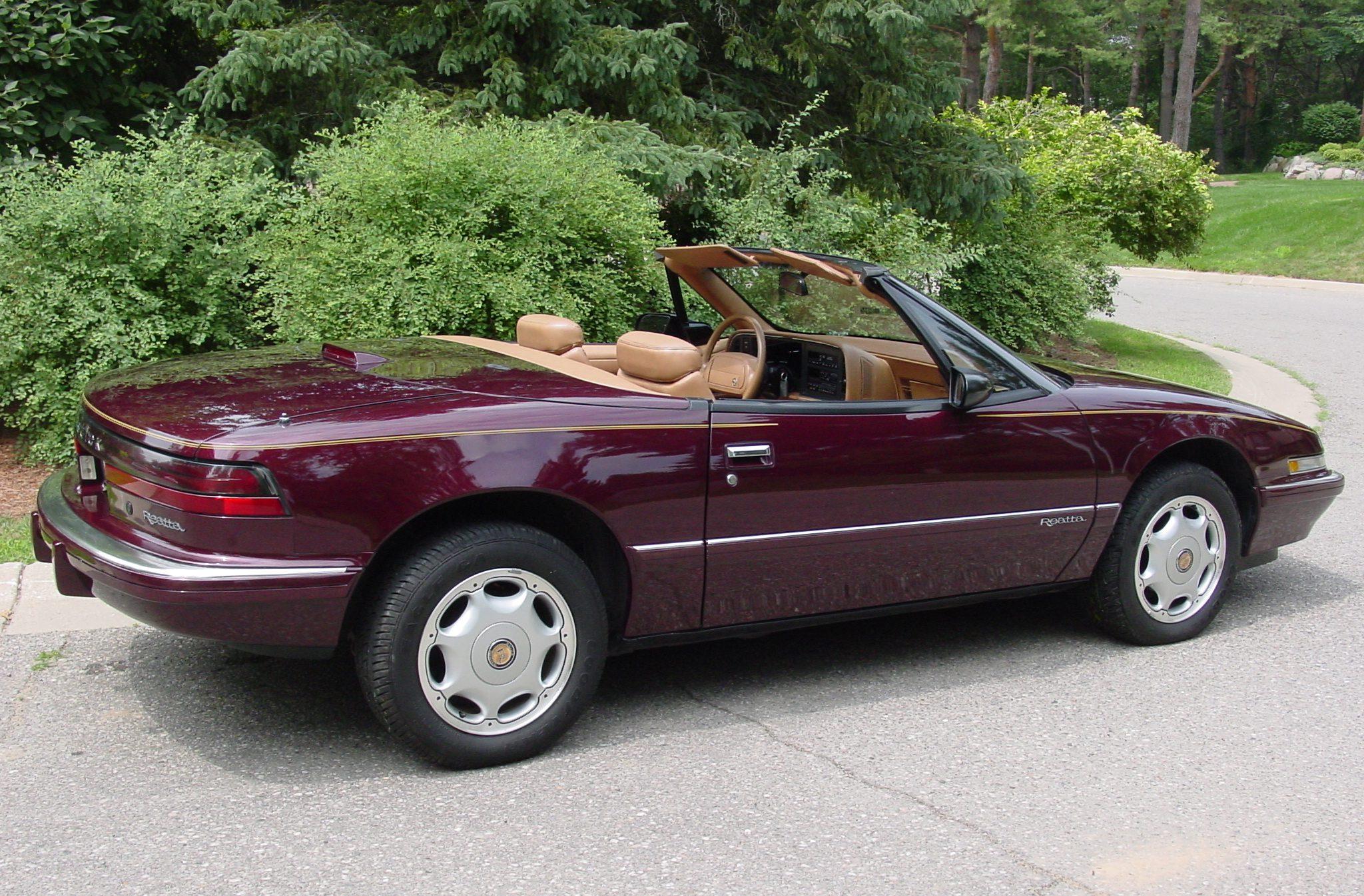 Reatta Convertible Coupe Rear Three-Quarter In Drive