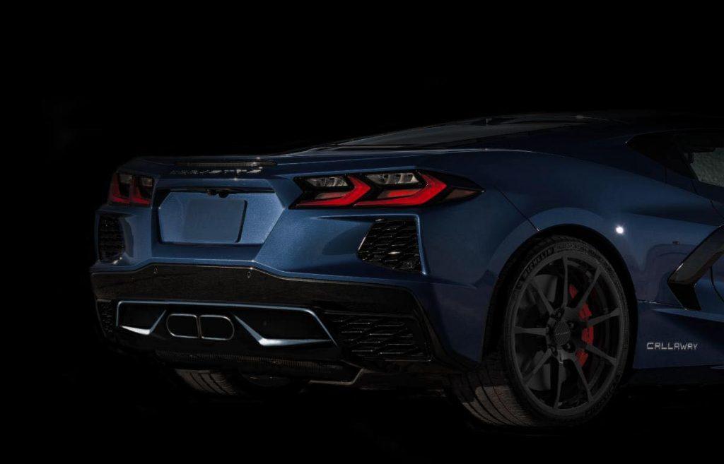 Callaway Corvette rear valence teaser