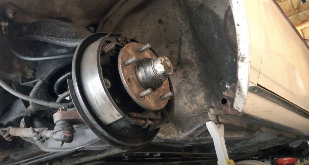 Chevrolet Corvair rear brakes