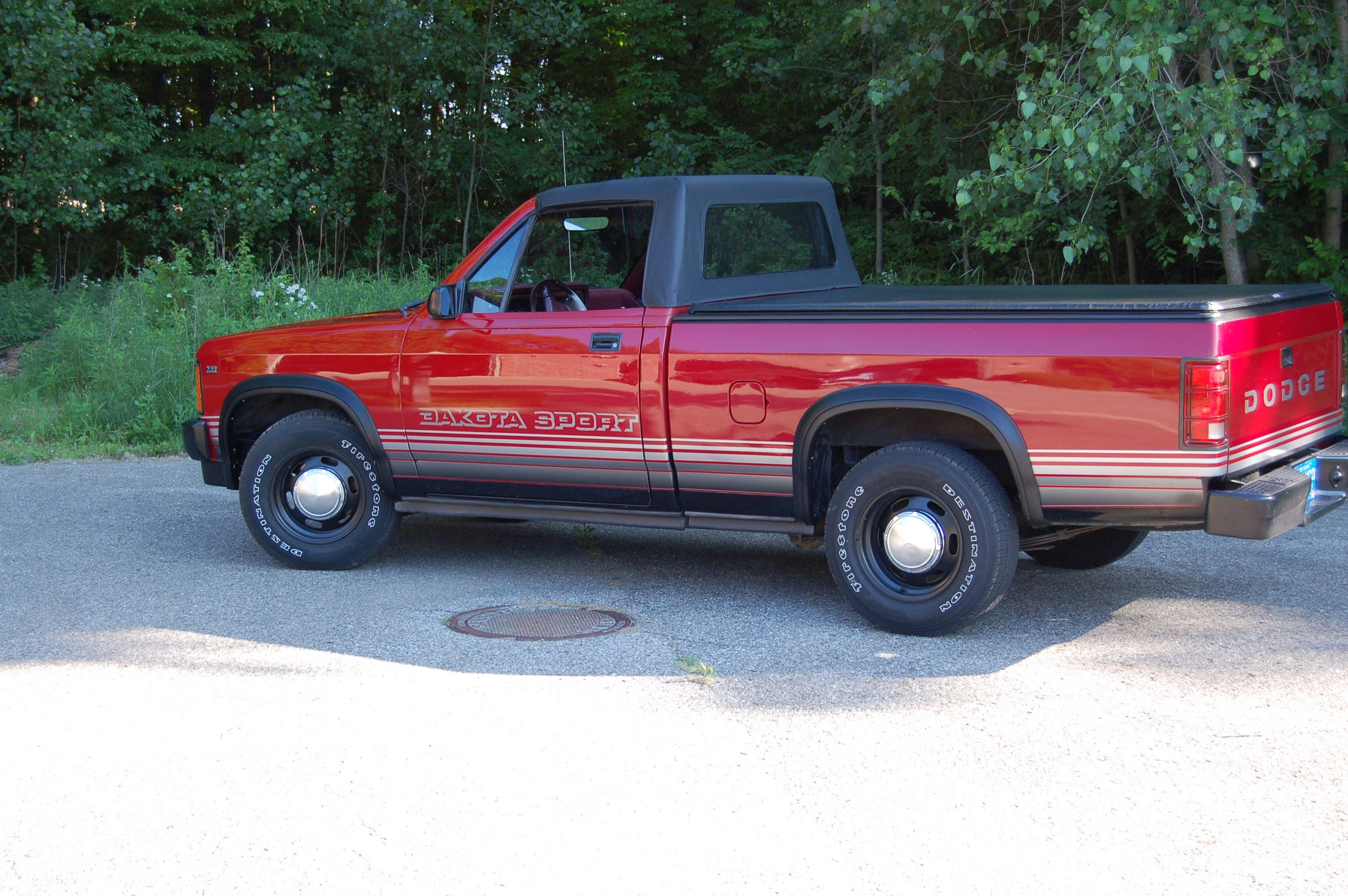 1989 Dodge Dakota Sport Convertible top up side profile
