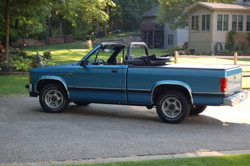1990 Dodge Dakota Sport Convertible top down side profile