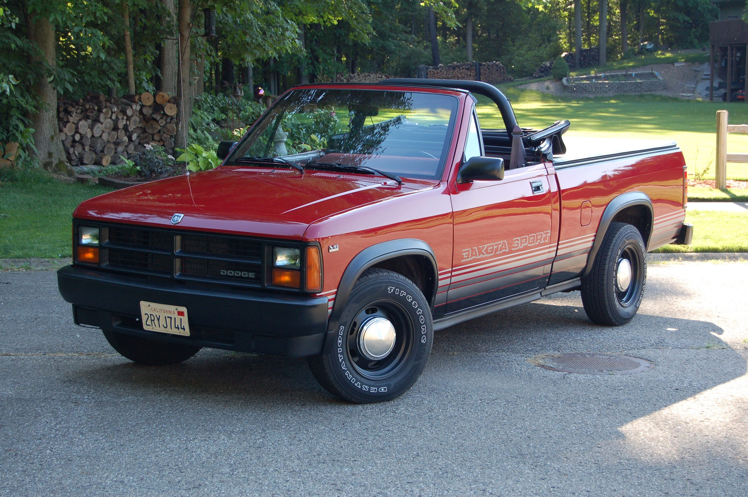 1989 Dodge Dakota Sport Convertible top down front three quarter