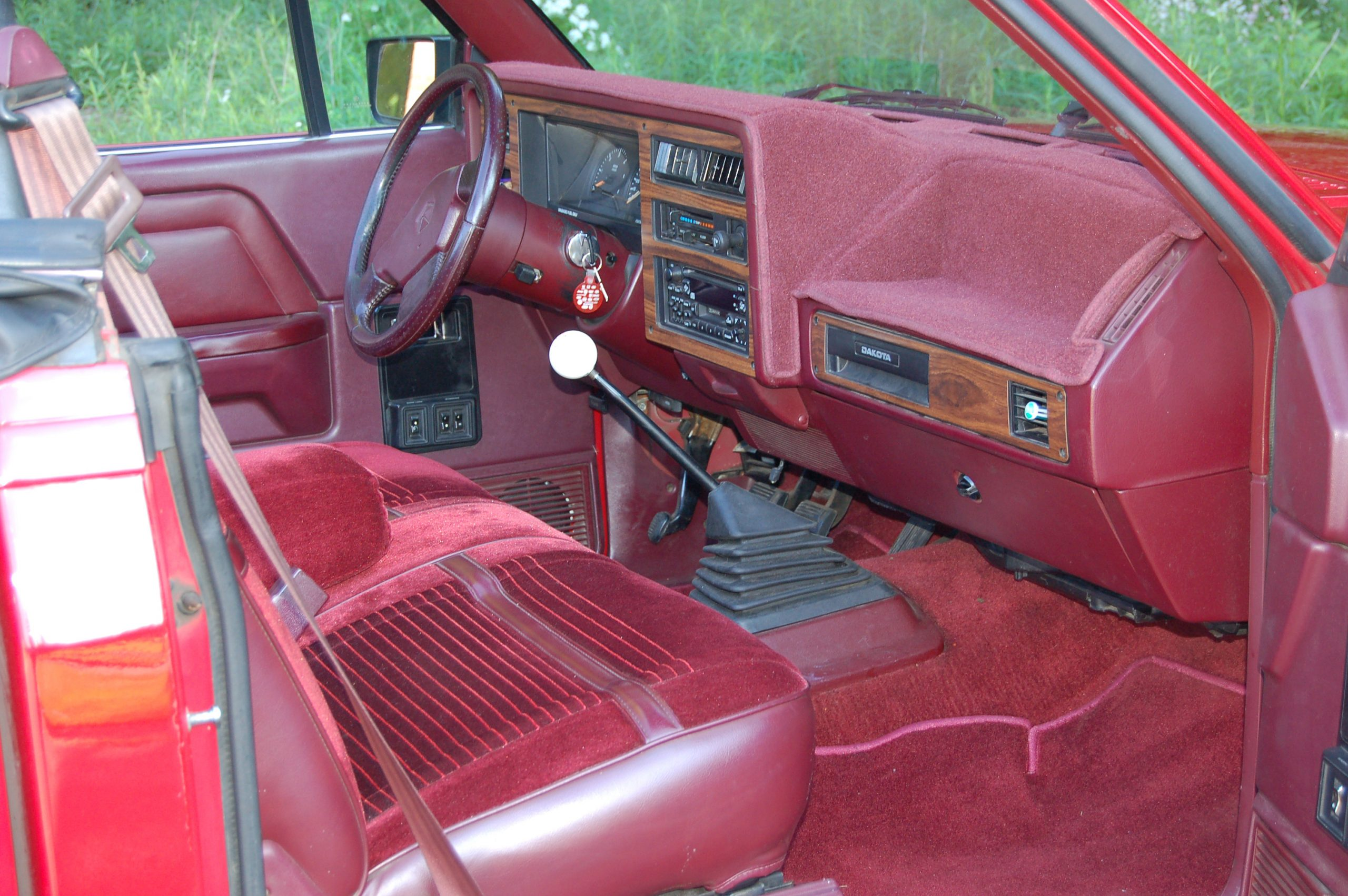 1989 Dodge Dakota Sport Convertible interior passenger's side