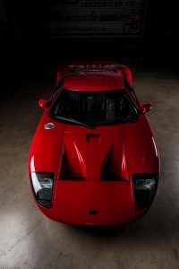 2005 Red Ford GT Overhead Front