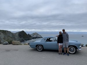 1956 Ford Thunderbird Owners At Pacific Ocean Overlook