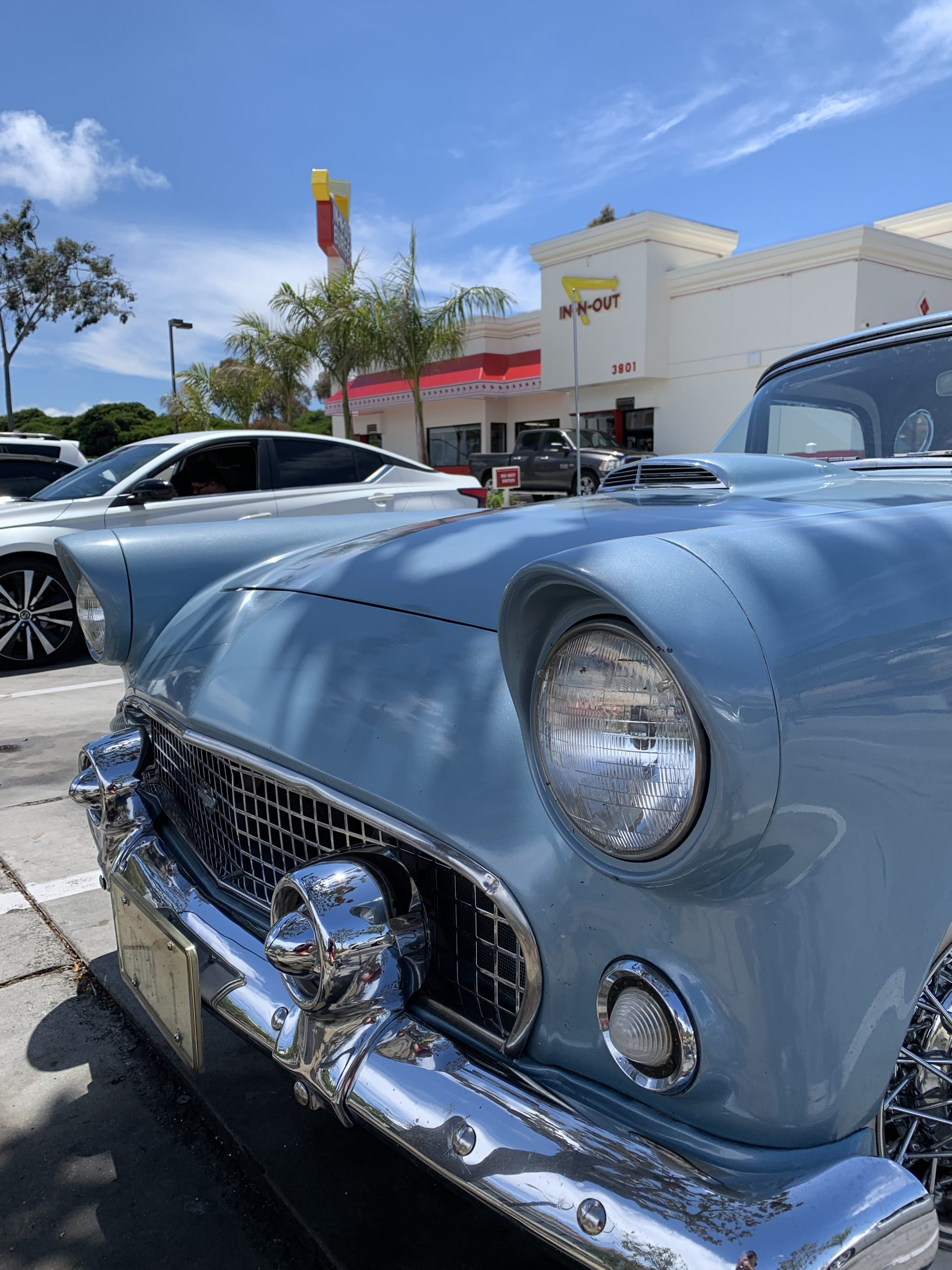 1956 Ford Thunderbird At In N Out Burger