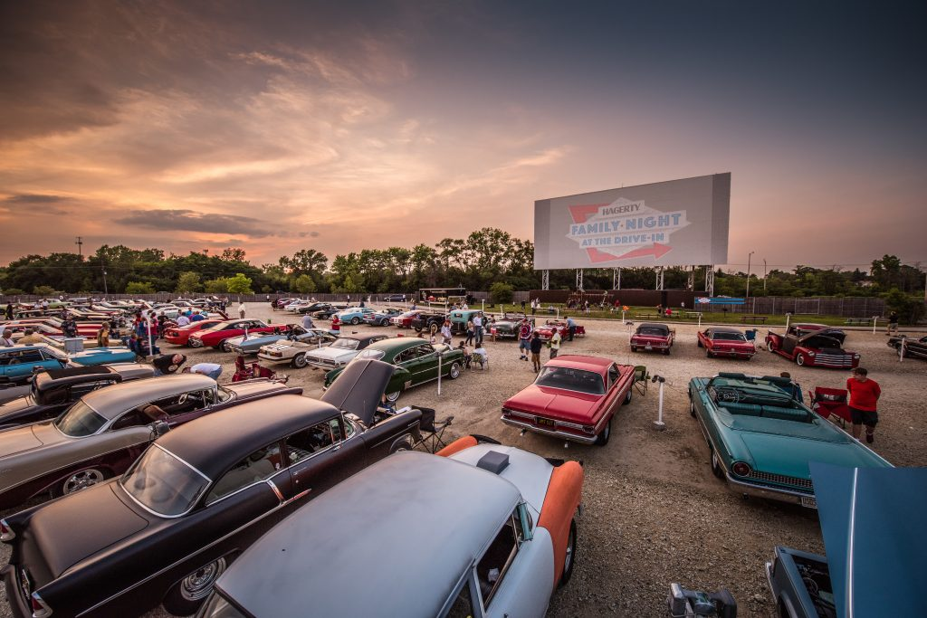 Drive In Movie Theater Sunset