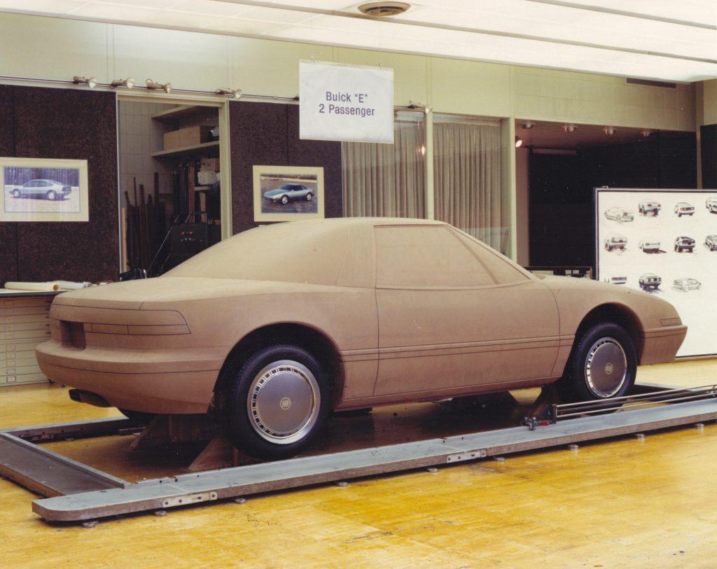 GM Clay Model In Studio Rear Three-Quarter