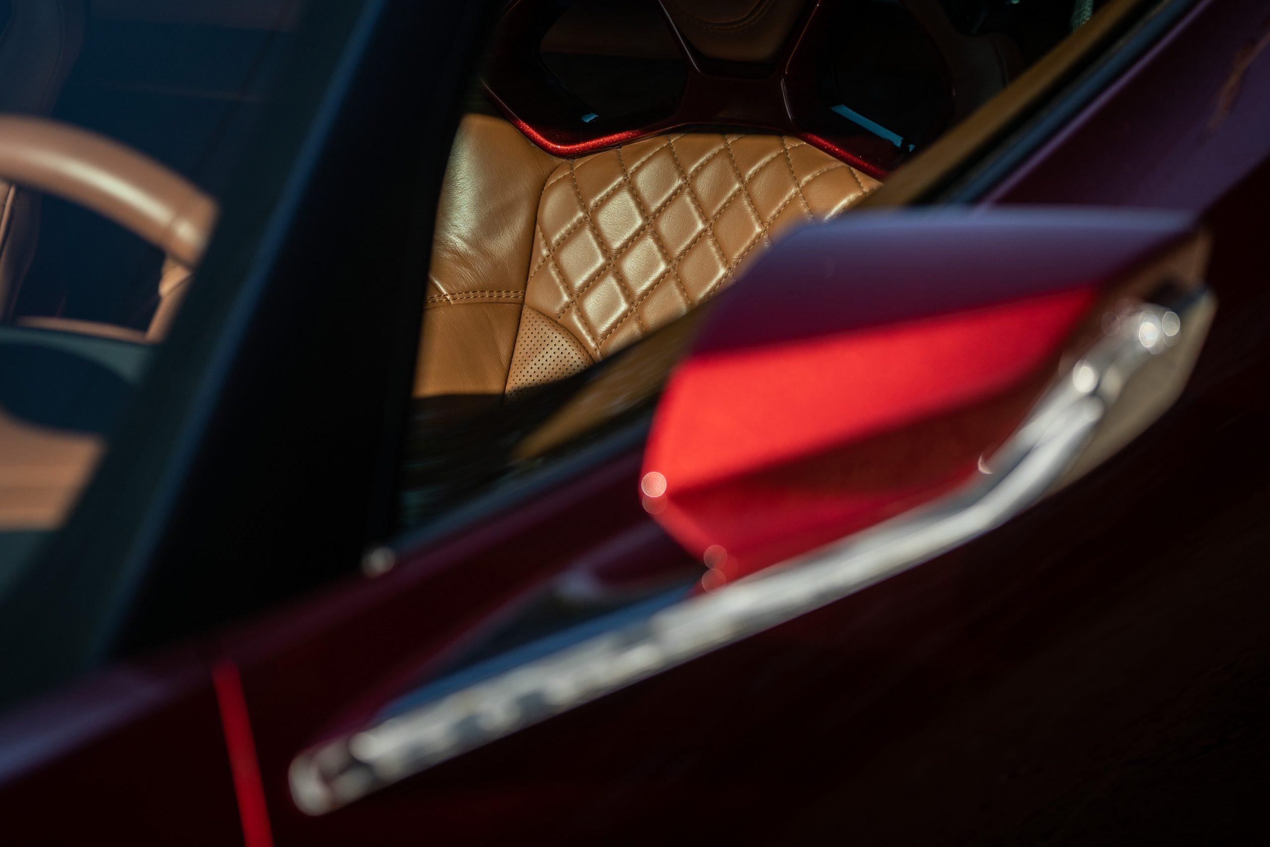 Genovation GXE C7 Corvette Diamond Leather Seat Stitch