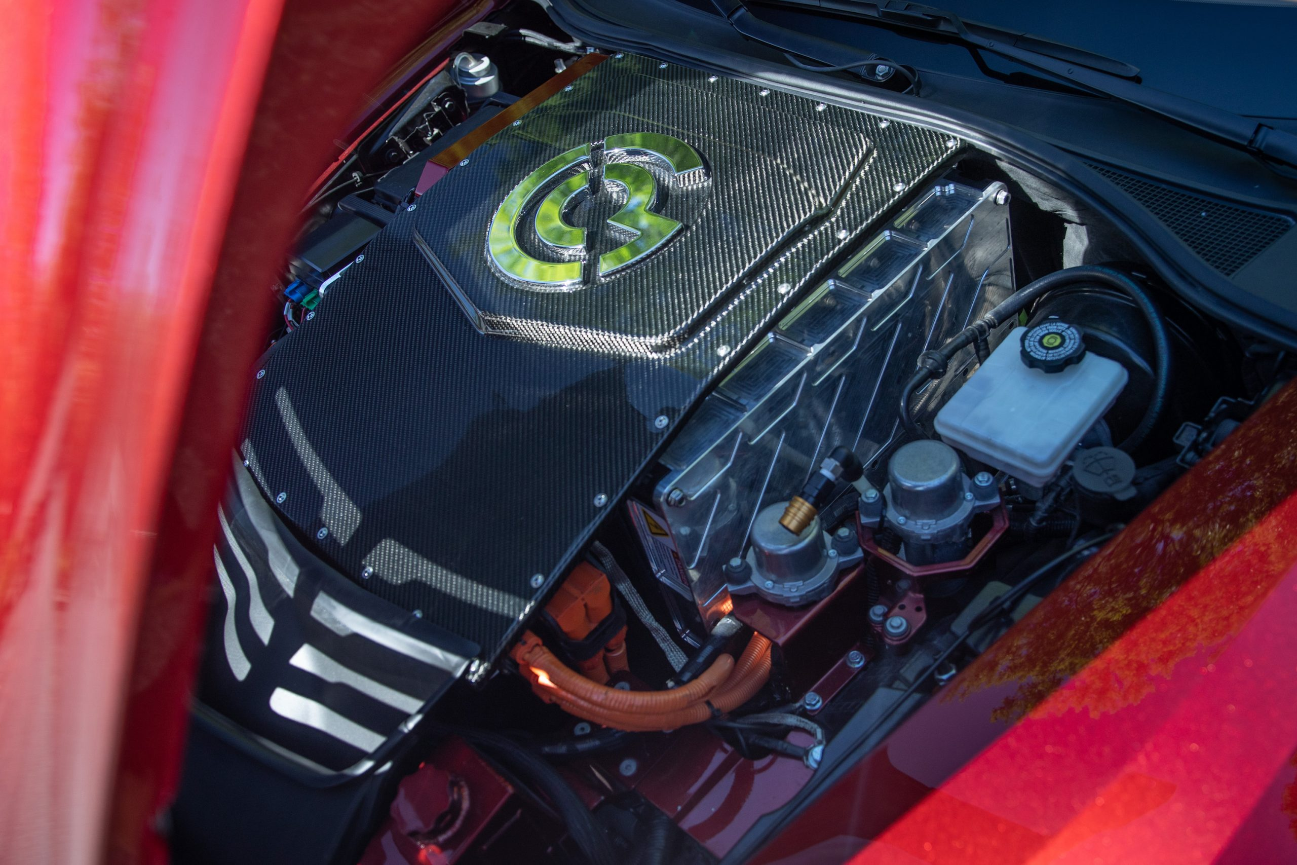 Genovation GXE C7 Corvette Engine Cover Angle