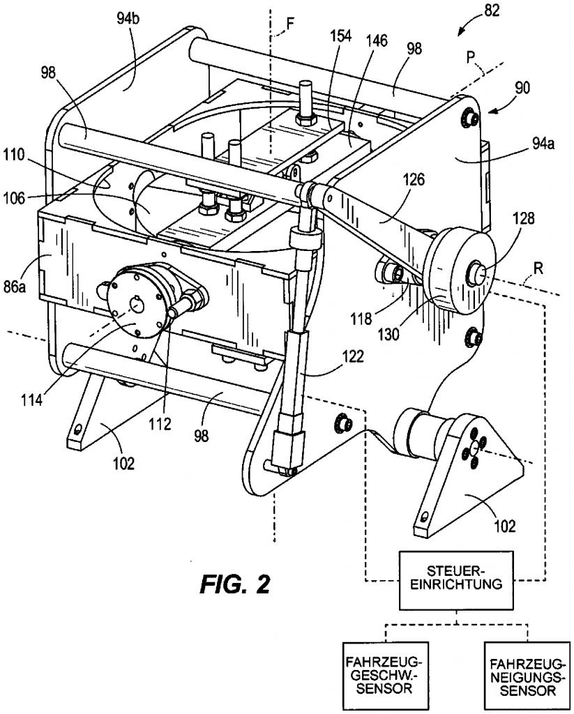 Harley Davidson gyro patent drawing