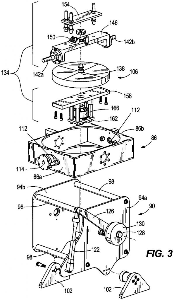 Harley Davidson gyroscope patent drawing cutaway