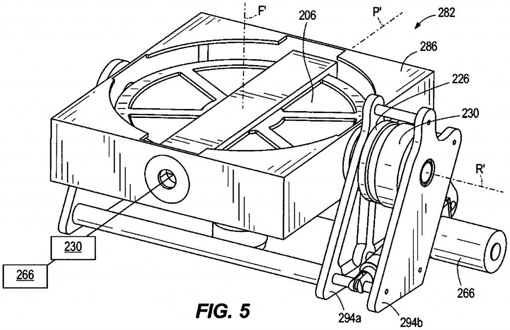 Harley Davidson gyroscope patent drawing