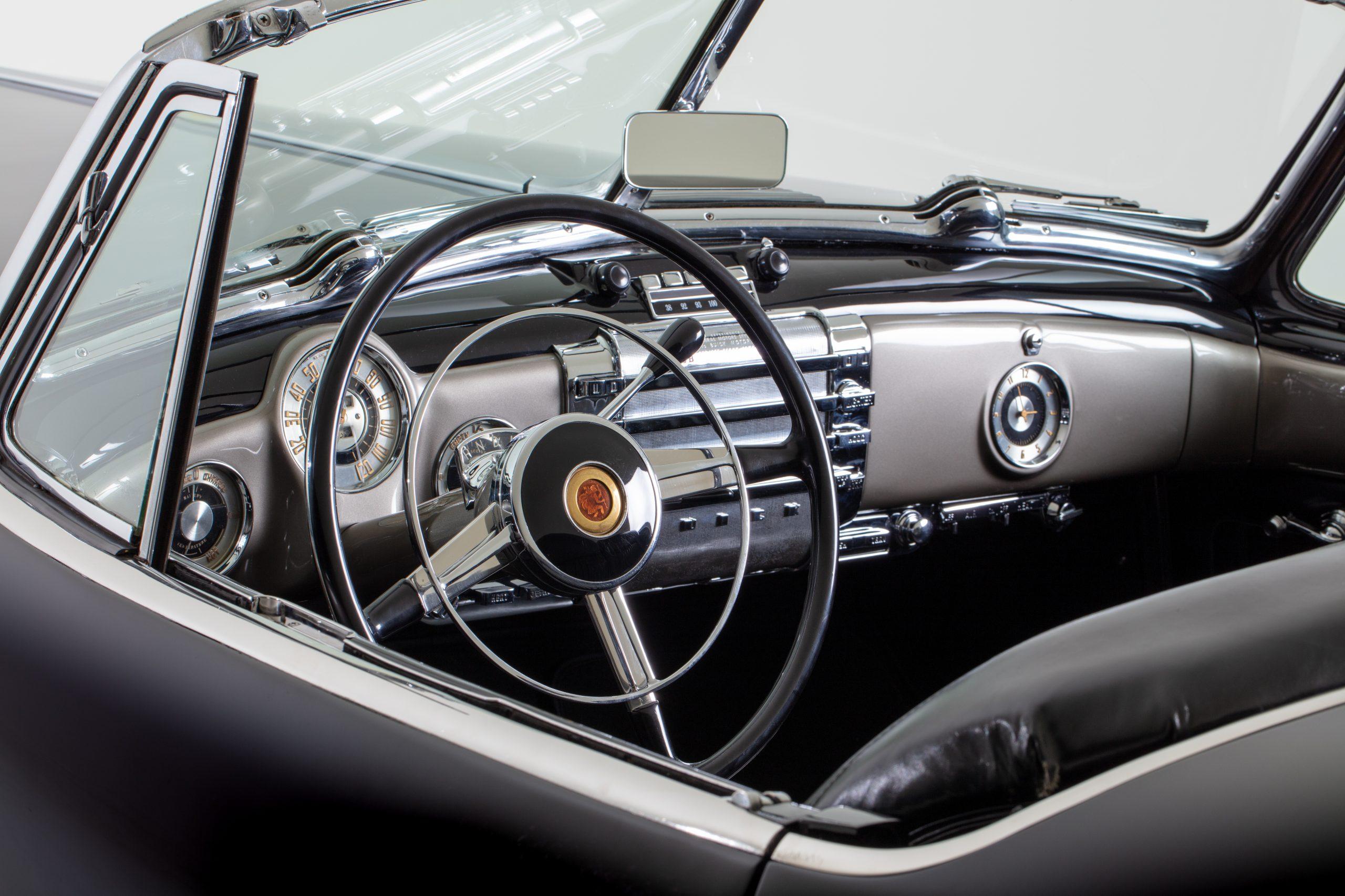 Buick Y-Job Interior Front Dash And Steering Wheel