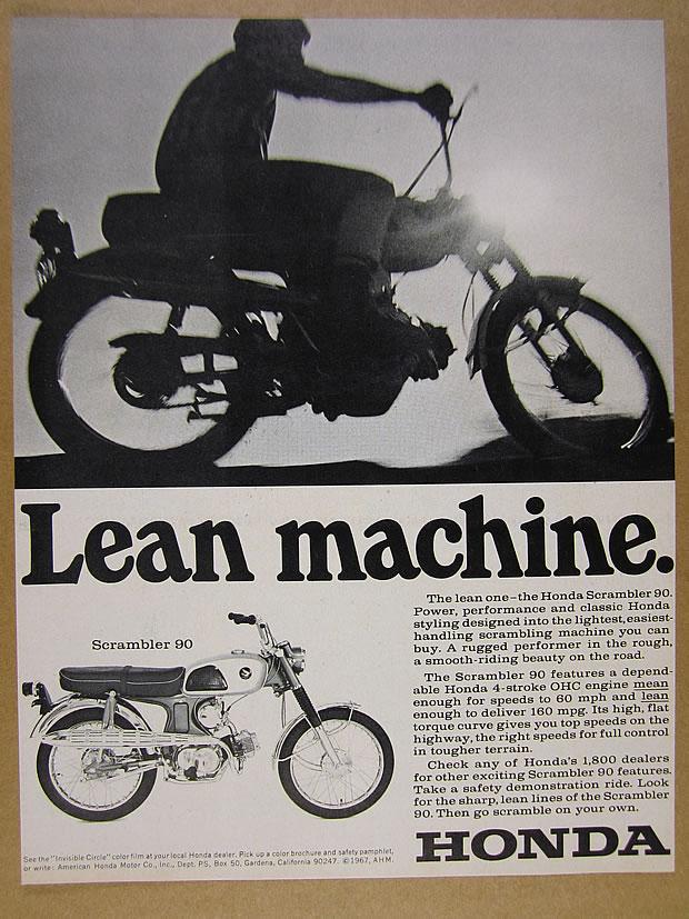 Honda CL90 ad lean machine