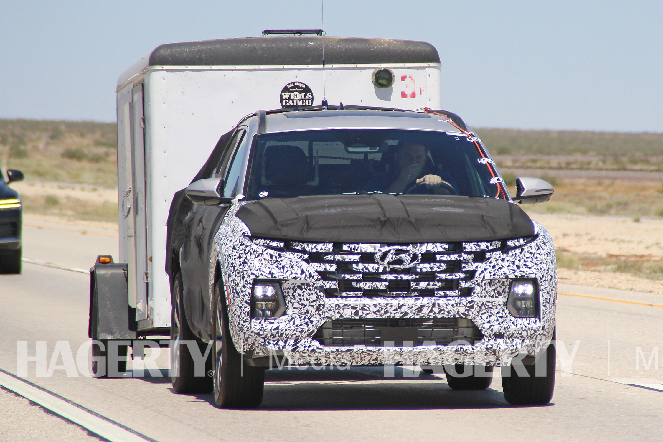 Hyundai Santa Cruz Pickup Front Action