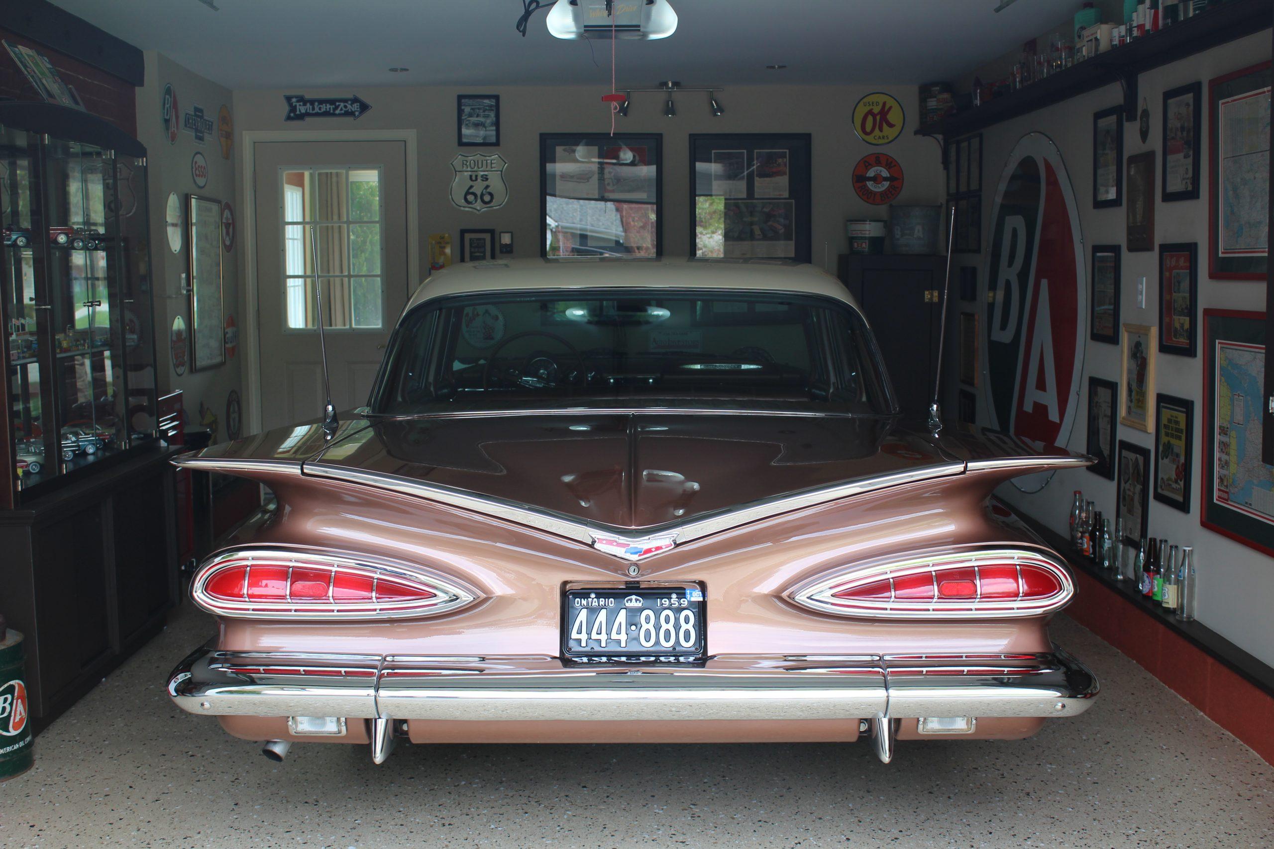 1959 Chevrolet Bel Air rear garage