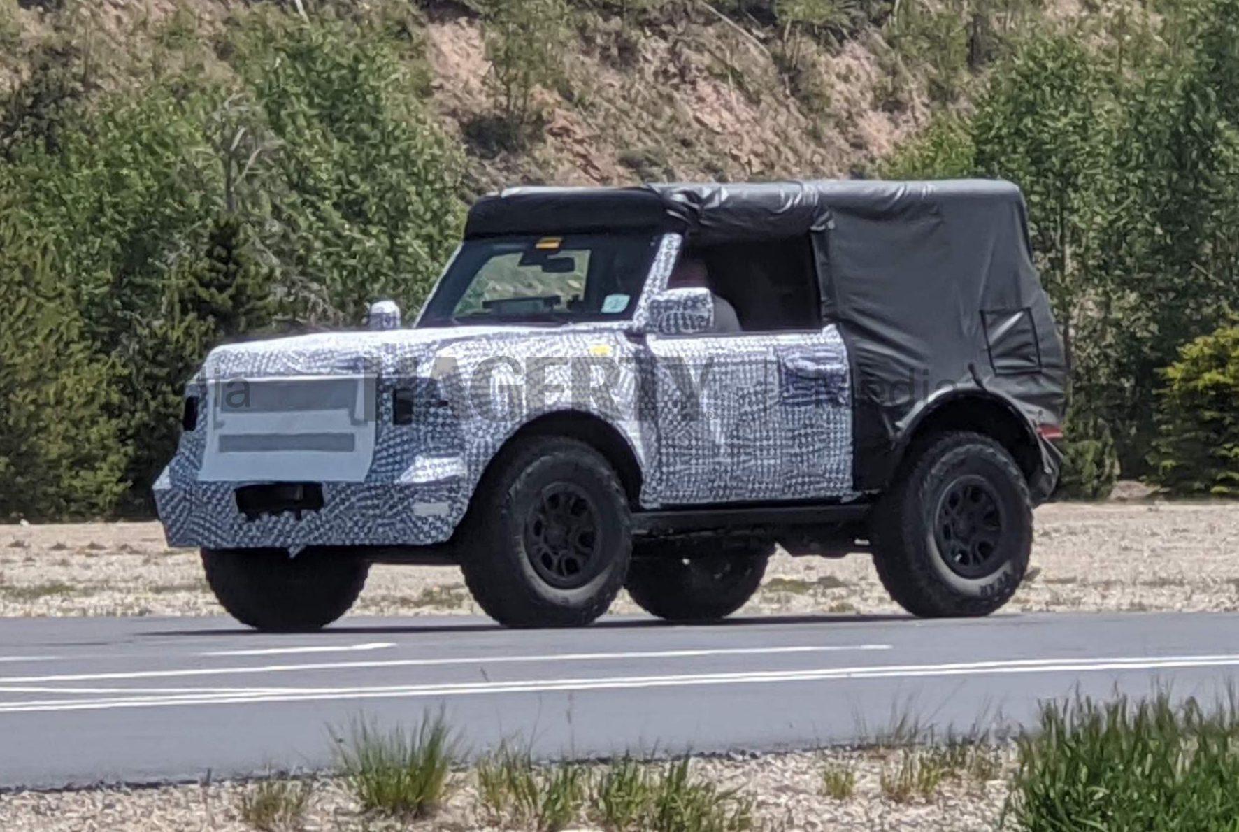 Ford Bronco Altitude Testing Front Three-Quarter