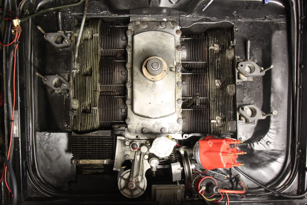 Corvair engine compartment torn down
