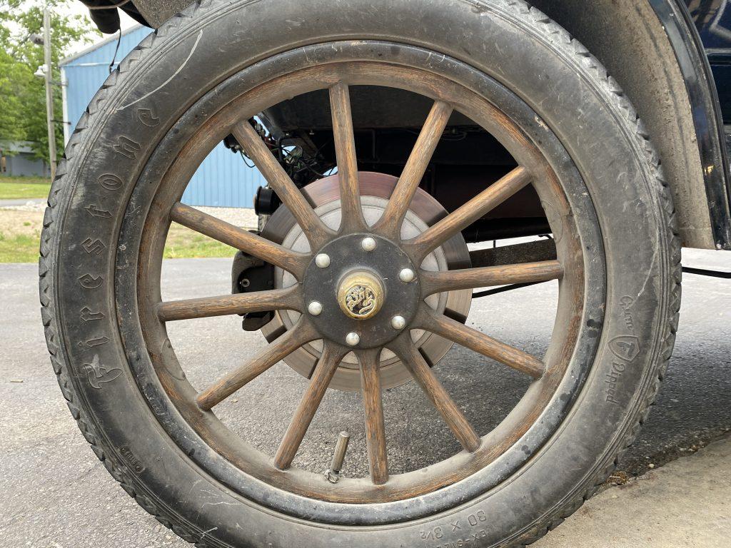 the rear disk brakes on Seamus Hnat's Model T