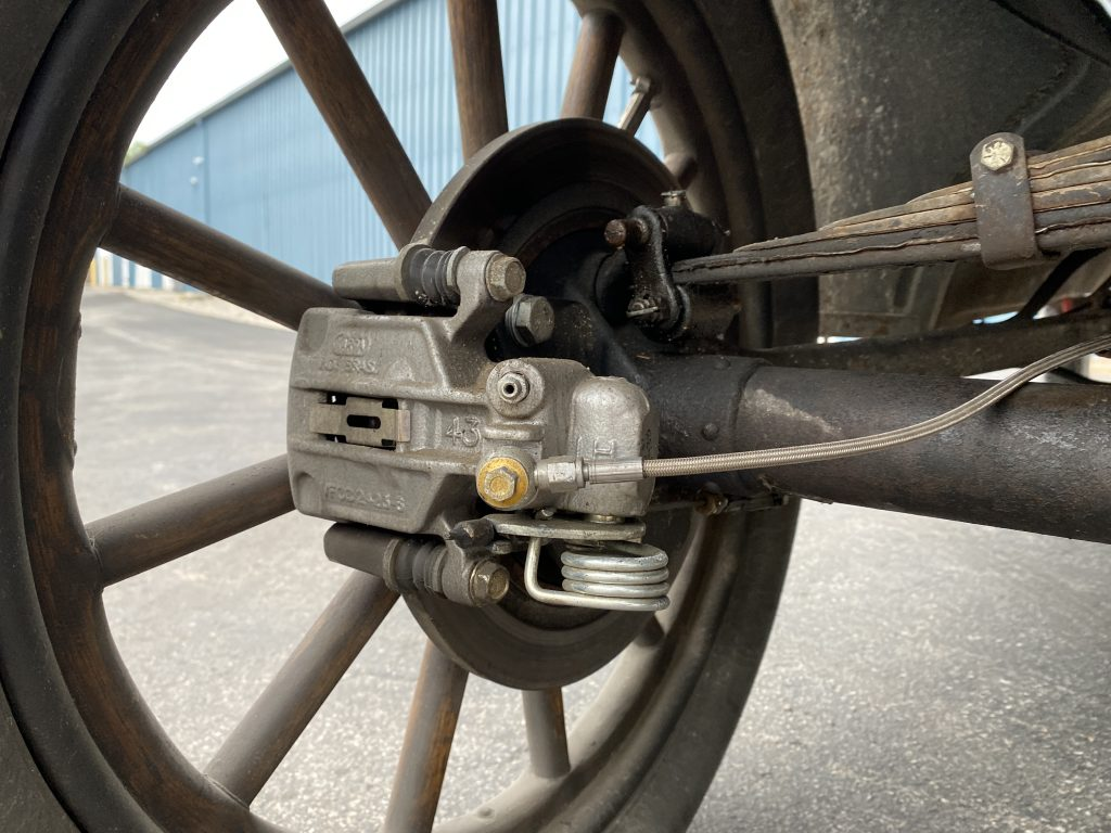 The disc brake conversion on Hnat's Model T