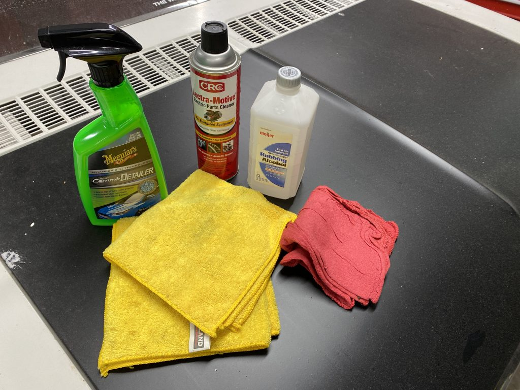 Three cleaners for engine detailing