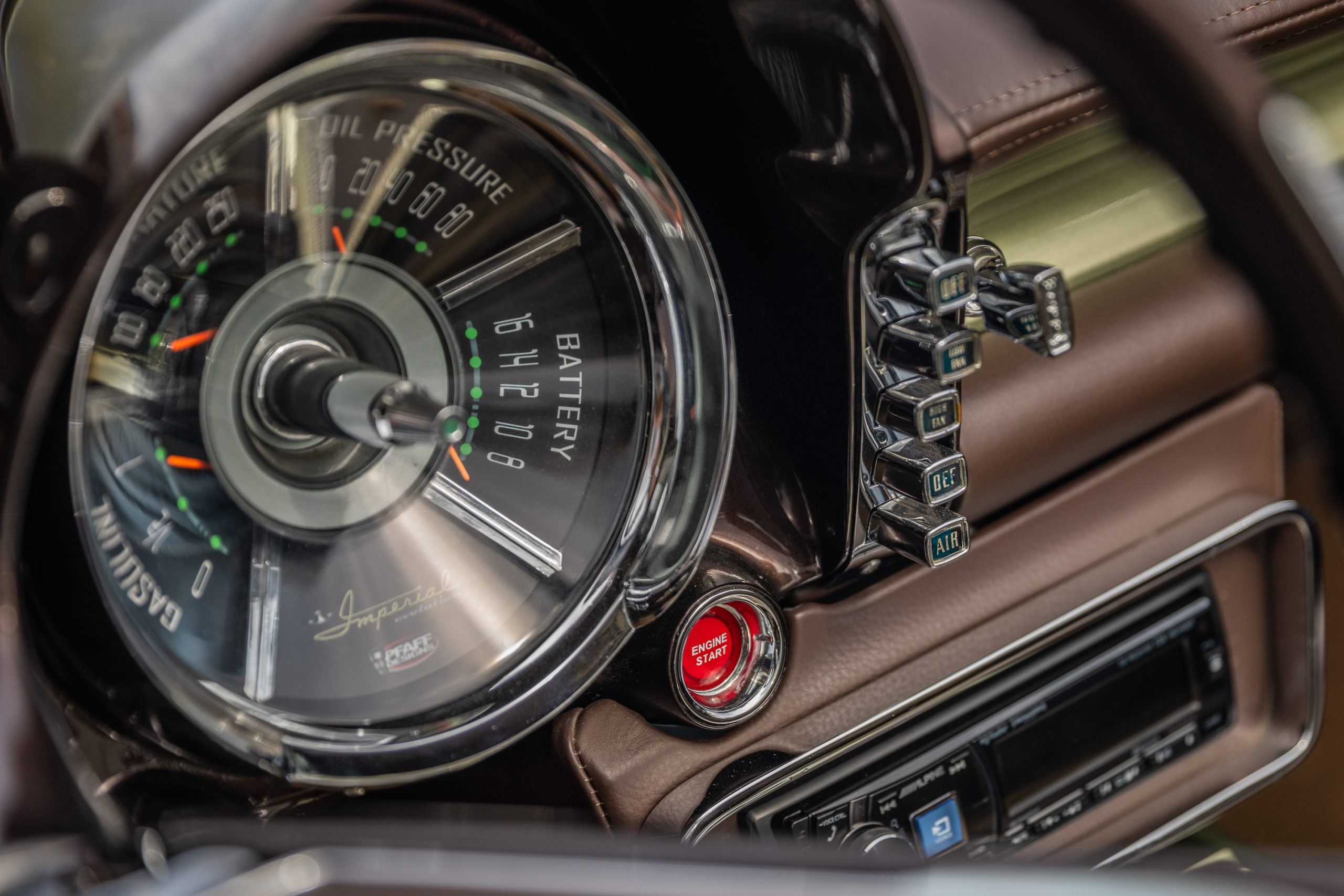 Imperial Speedster Interior Gauges And Buttons