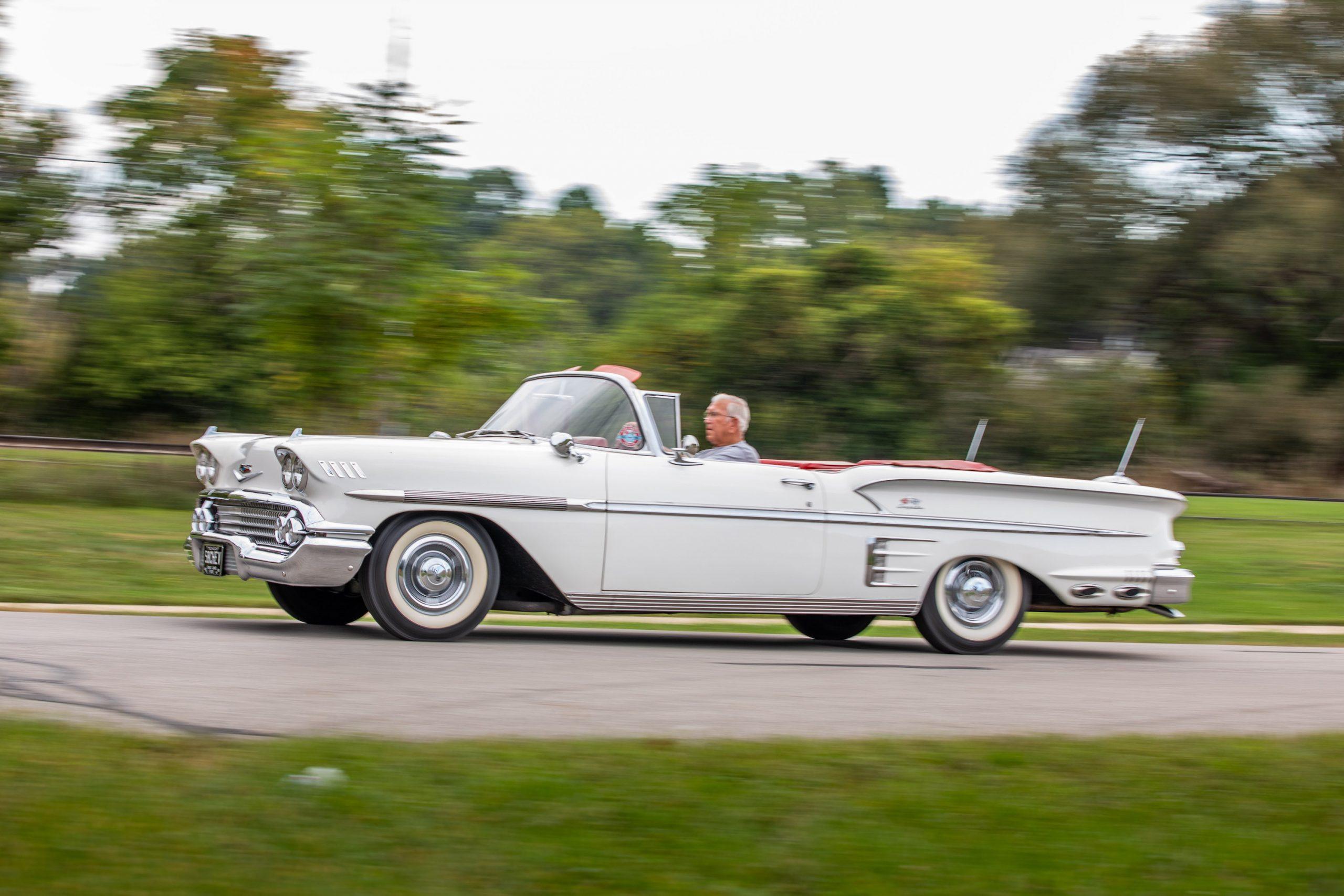 1958 Chevrolet Impala Convertible Action