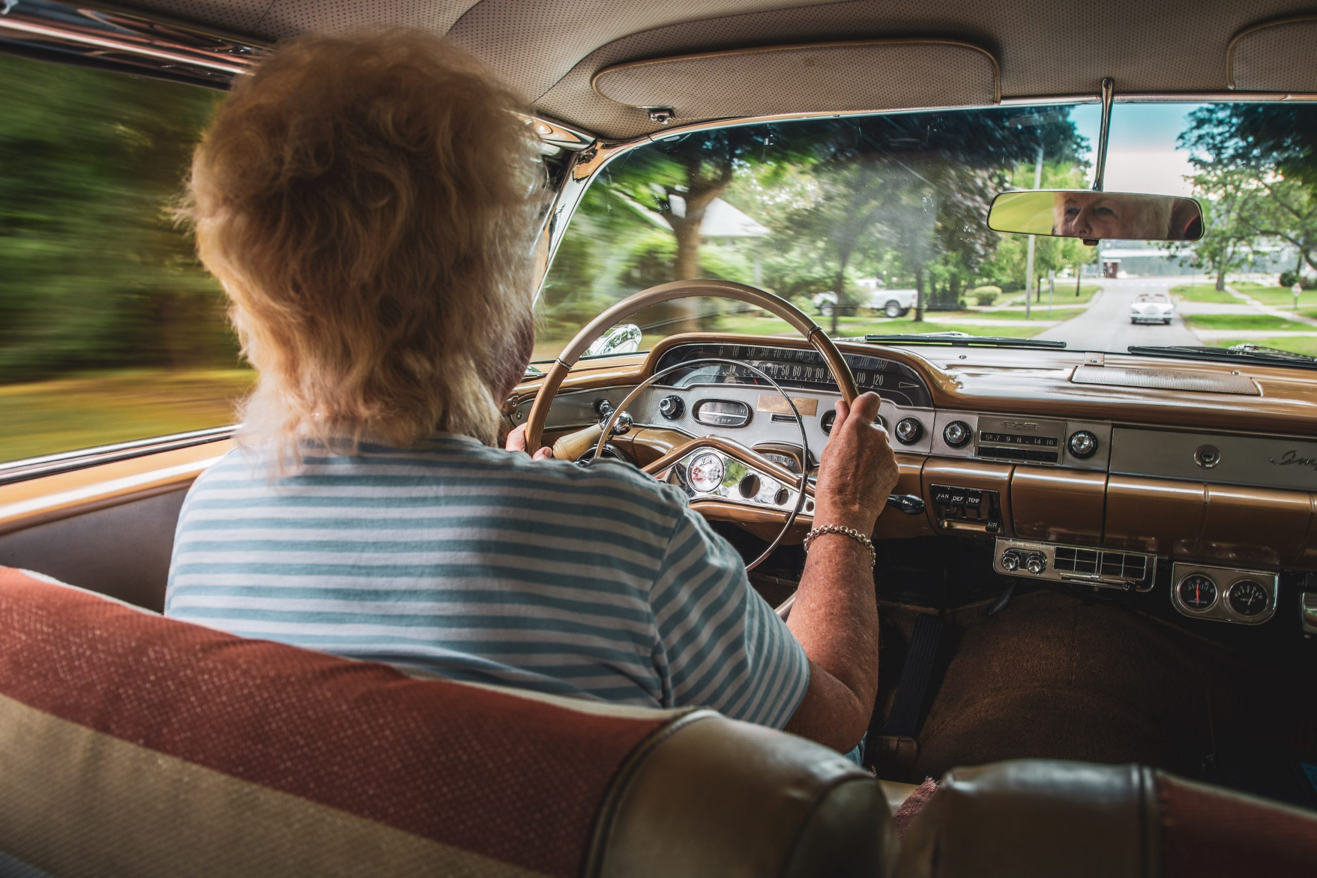 1958 Chevrolet Impala Owner Driving