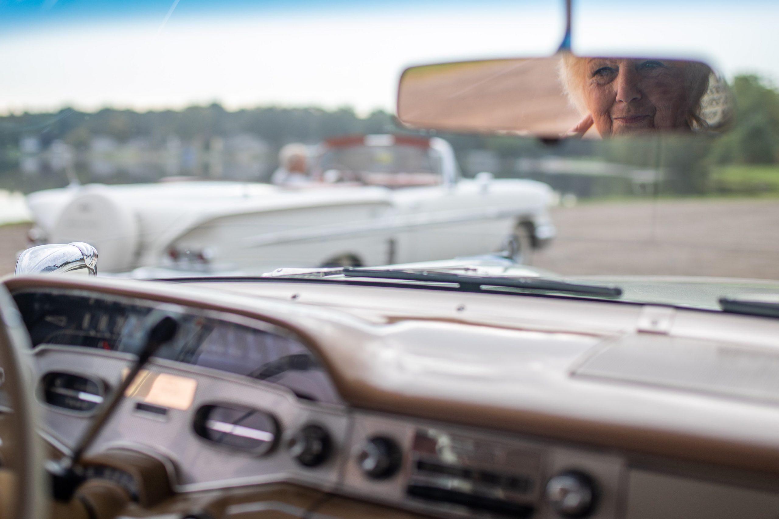 1958 Chevrolet Impala Owner In Mirror