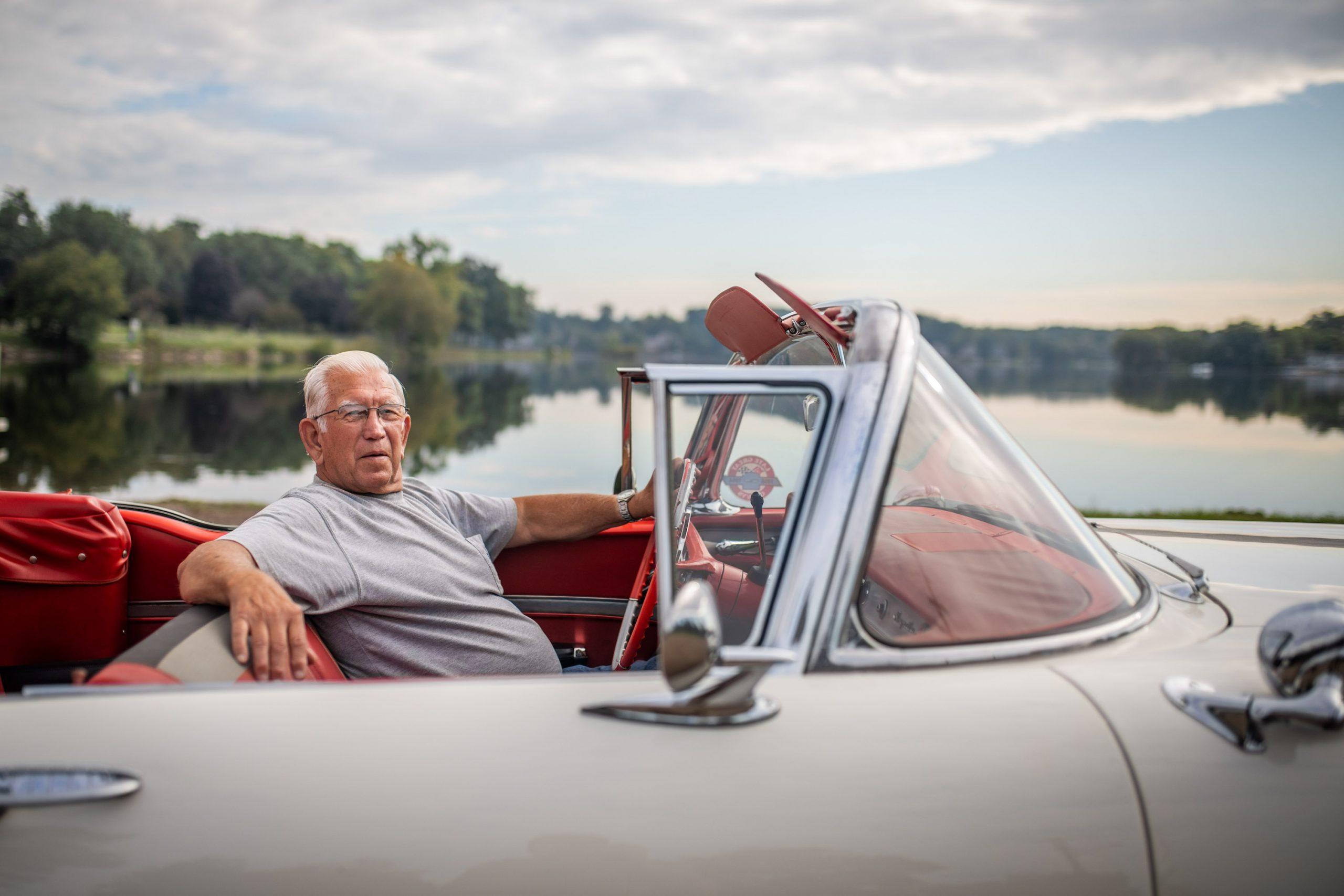 1958 Chevrolet Impala Convertible Owner Behind Wheel