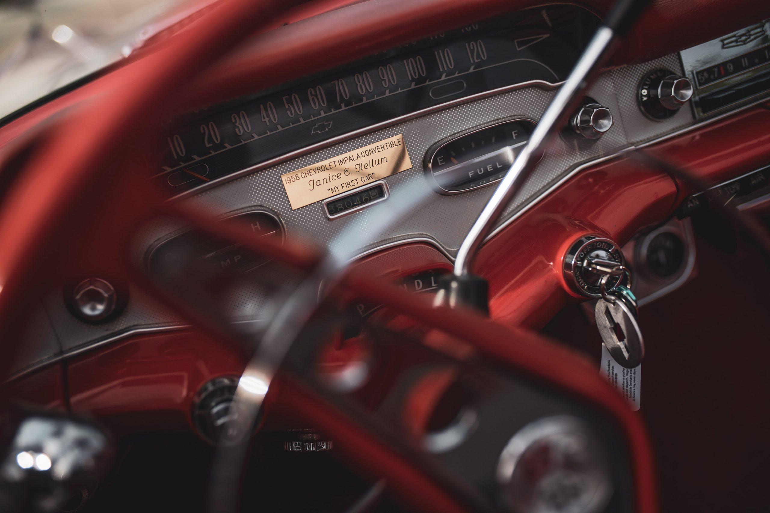 1958 Chevrolet Impala Convertible Dash