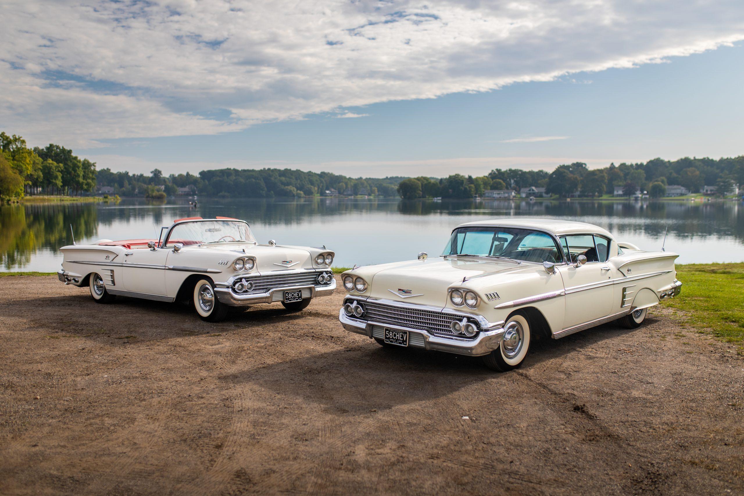 1958 Chevrolet Impala Front Three-Quarter Lakeside