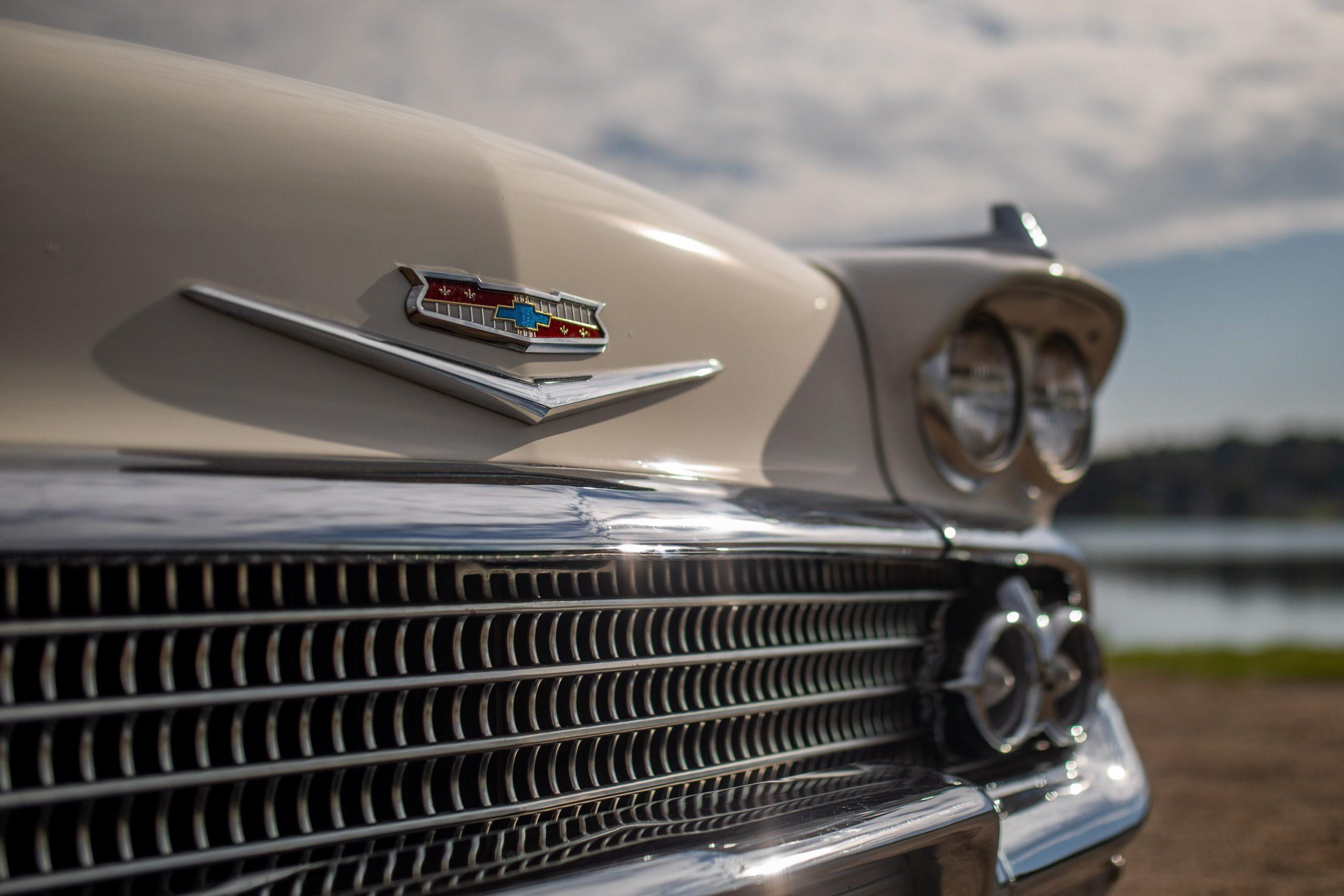 1958 Chevrolet Impala Convertible Front Emblem