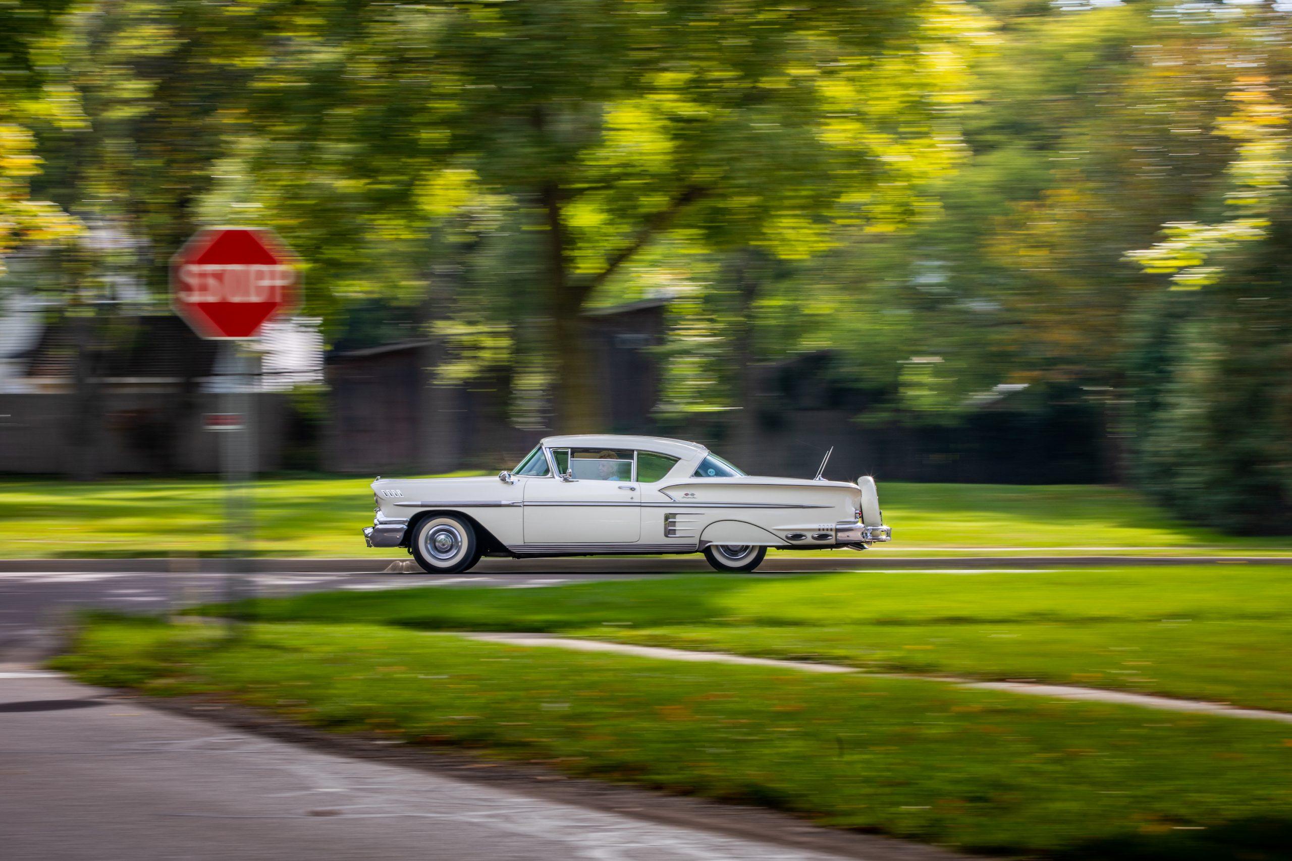 1958 Chevrolet Impala Side Profile Action