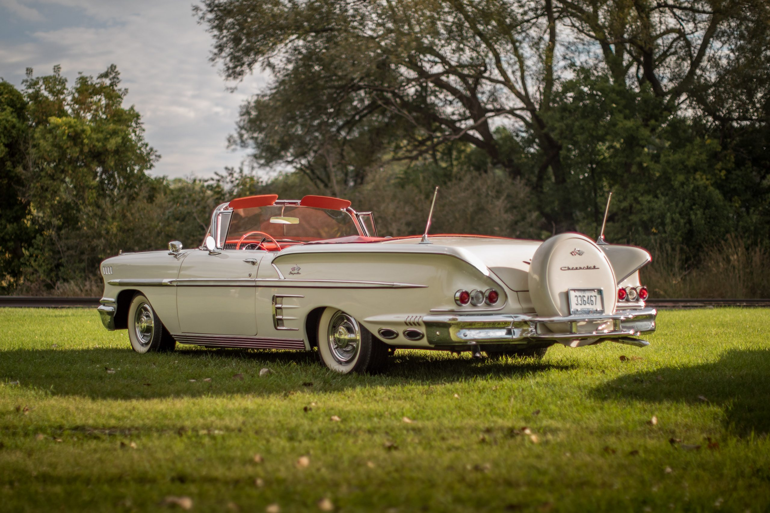 1958 Chevrolet Impala Convertible Rear Three-Quarter