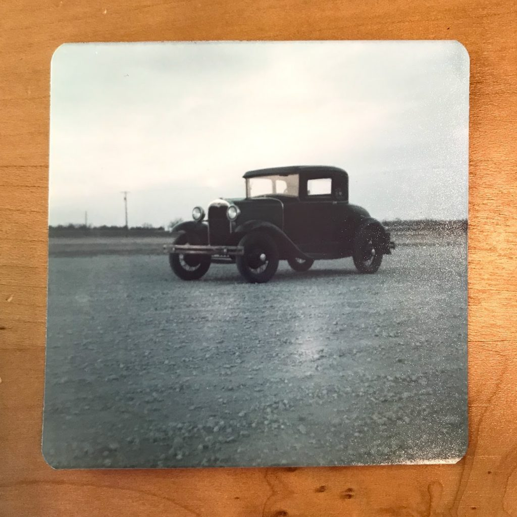 Film photo of Model A Ford