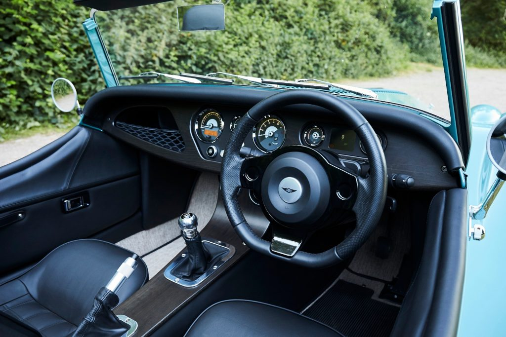 Morgan Plus Four Front Interior Cockpit