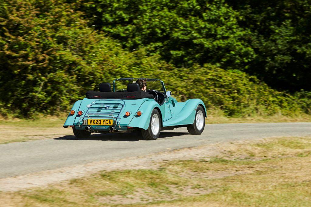 Morgan Plus Four Rear Three-Quarter Action