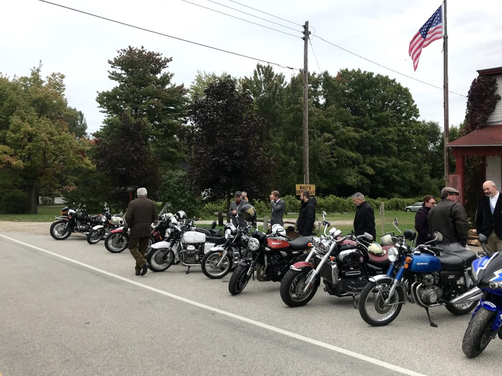 Motorcycle club ride