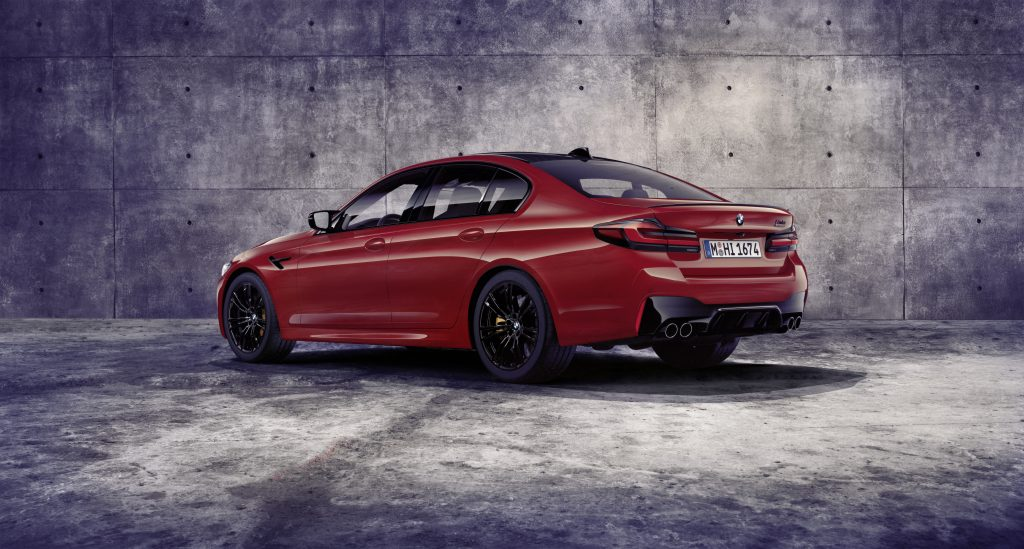 2021 BMW M5 Competition rear 3/4