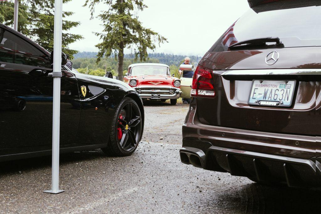 Bel Air Wagon Visible Between Ferrari And Mercedes Wagons