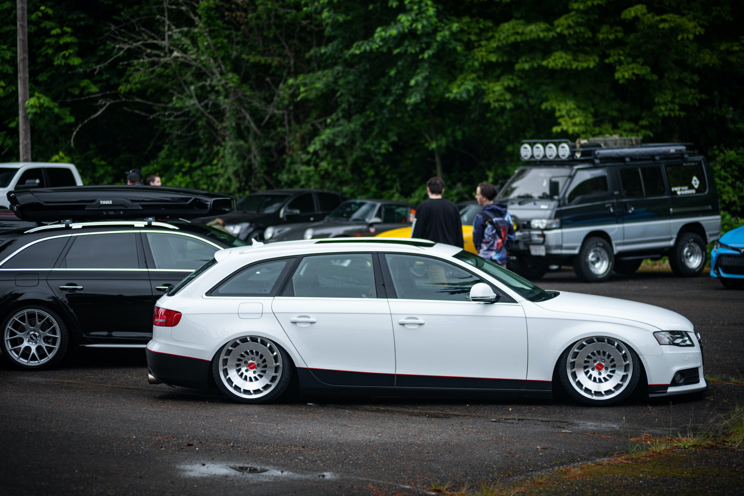 Custom White Audi Avant Side Profile