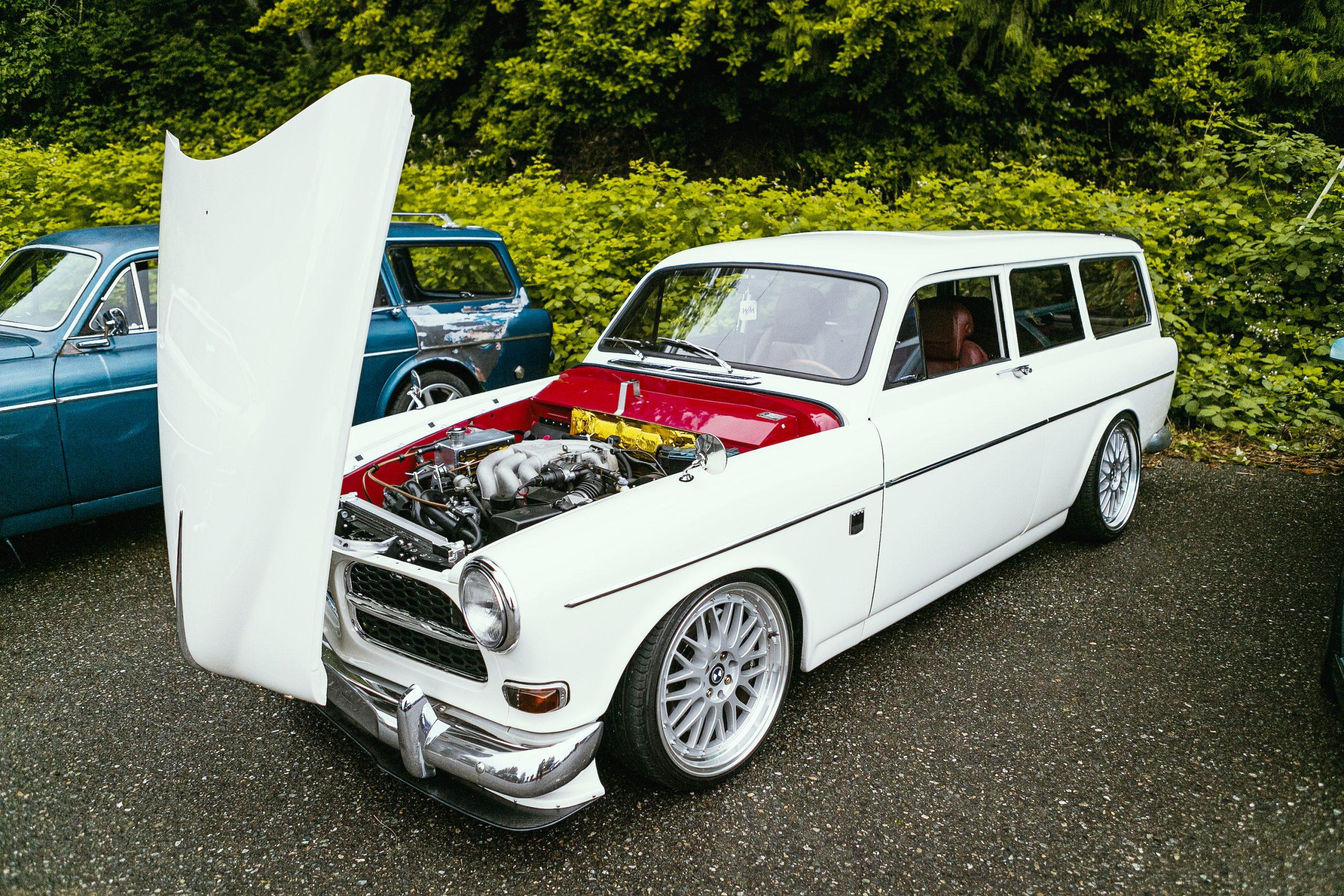 Volvo Wagon Hood Raised Front Three-Quarter