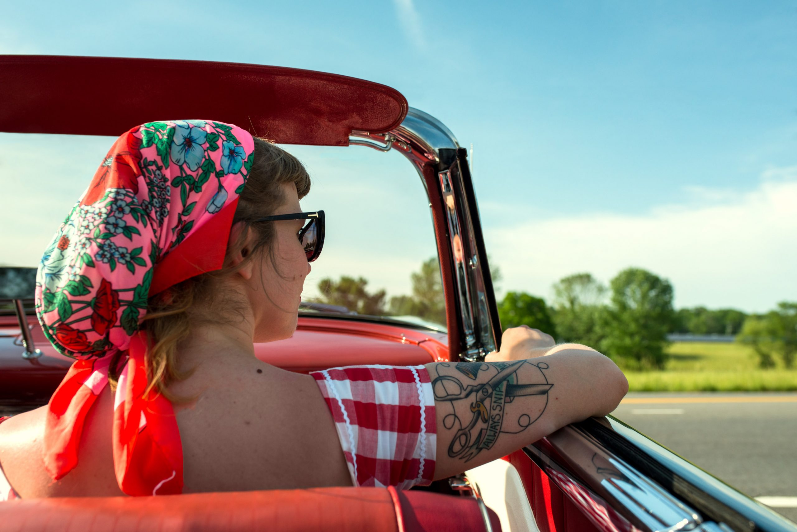 Plymouth Fury Woman in Passenger Seat