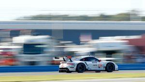 Porsche 911 RSR Daytona Rear Three-Quarter Action