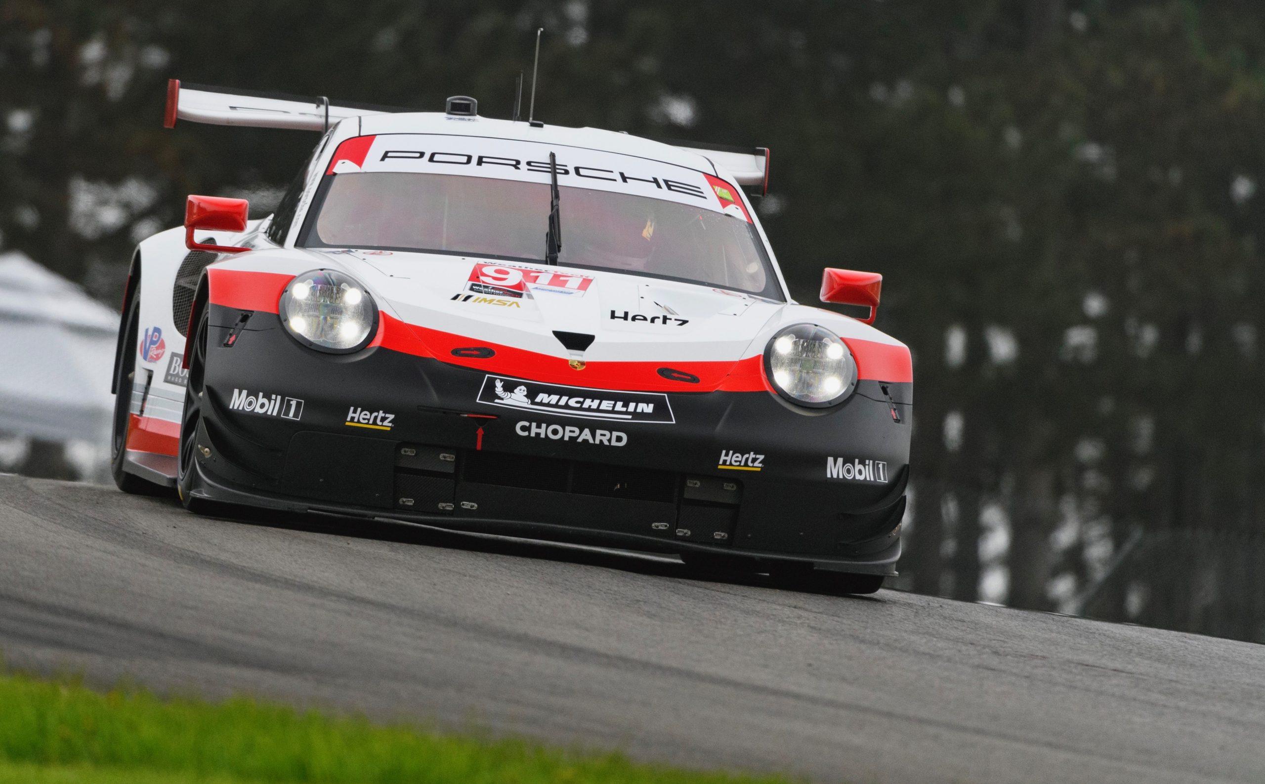 Porsche 911 RSR Front Mid Ohio Action